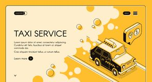 Taxi service ordering web page vector template stock illustration