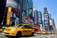 Taxi op Times Square Royalty-vrije Stock Afbeelding
