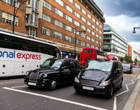 Taxi on Oxford street . London royalty free stock images