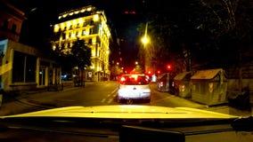 Taxi på nätterna arkivfilmer