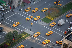 Taxi parade. A lot of cabs in the streets of New-York Stock Images