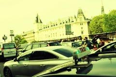 Taxi in Paris. Stock Photo
