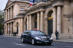 Taxi in Paris, France. Taxi driving on a street in Paris, France Royalty Free Stock Image