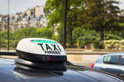 Taxi in Paris. Taxi parisien, sign on the car in Paris Stock Photography