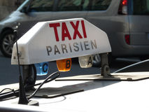Taxi in paris Stock Images