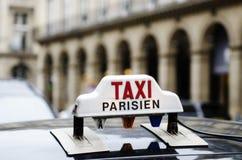 Taxi in Paris stock image