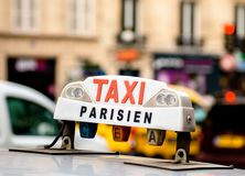Taxi in Paris Royalty Free Stock Photography