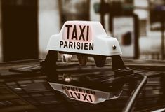 Taxi in Paris Royalty Free Stock Photo