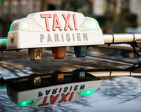 Taxi in Paris Royalty Free Stock Images