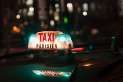 Taxi Parisien Stock Images