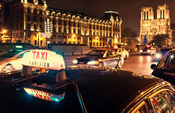 Taxi Parisien Fotografia Royalty Free
