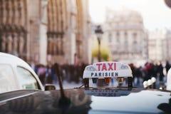 Taxi parisien Stock Images