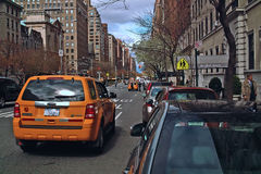 Taxi Park Avenue New York USA Royalty Free Stock Photo