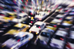 Taxi Parking Blurred Abstract Background Stock Image