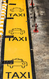 Taxi Parking Lane Stock Image