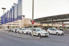 Taxi parking near Graz Hauptbahnhof railway station in Austria. Royalty Free Stock Image