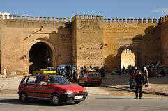 Taxi pequeno en Fes, Marruecos Imagen de archivo