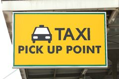 Taxi Pick up point Stock Photo