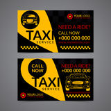 Taxi pickup service business card layout template. Create your own business cards. Stock Photos