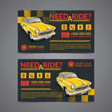 Taxi pickup service business card layout template. Create your own business cards. Stock Photography