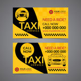 Taxi pickup service business card layout template. vector illustration