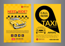 Taxi pickup service design layout templates. A4 call taxi concept flyer. vector illustration