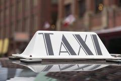 Taxi podpisuje wewnątrz Toronto Fotografia Stock