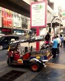 Taxi popolare in Tailandia (TUKTUK) Fotografie Stock