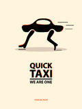 Taxi poster. Vector illustration Stock Photography