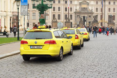 Taxi in Prague Stock Photography