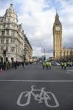 Taxi Protestuje przeciw Uber obrazy stock