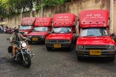 Taxi przy parking Zdjęcia Royalty Free