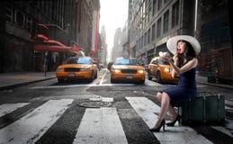 Taxi que espera Foto de archivo libre de regalías