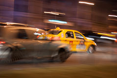 Taxi race Royalty Free Stock Photography