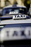 Taxi rank. Polish taxi rank in Krakau royalty free stock photos