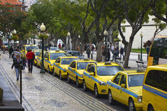 Taxi rank in Funchal, Madeira, Portugal Stock Photography
