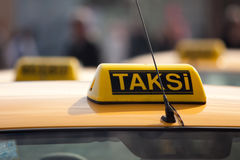 Taxi rank. Istanbul, Turkey. Taxi rank in Istanbul Turkey stock photos