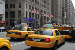 Taxi Rank, New York City royalty free stock photos