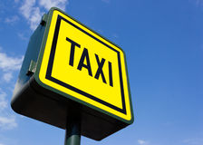 Taxi rank sign Stock Photos