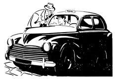 Taxi retro 01 Foto de archivo libre de regalías