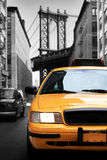 Taxi, retro car yellow color Royalty Free Stock Image
