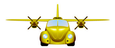 Taxi. Retro flying car. Stock Image