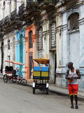 TAXI RICKSHAWS, HAVANA, CUBA royalty free stock photos