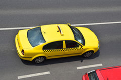 Taxi on the road Royalty Free Stock Photo