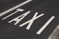 Taxi road marking Stock Photography