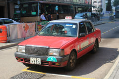 Taxi rojo en Hong-Kong Imagen de archivo libre de regalías