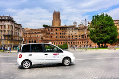 Taxi in Rome Royalty Free Stock Photo