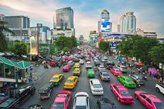 Taxi rosa di Bangkok Immagini Stock