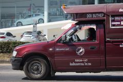 Taxi rosso Chiang Mai Servizio in città ed intorno Immagini Stock Libere da Diritti