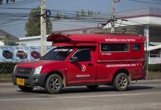 Taxi rosso Chiang Mai Servizio in città ed intorno Immagini Stock